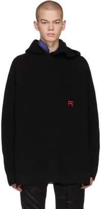 Raf Simons Black Knit Atari Hoodie