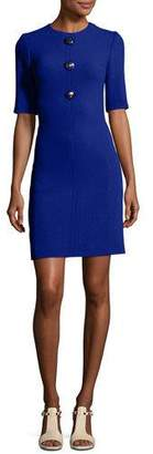 Michael Kors Crewneck Half-Sleeve Shift Dress