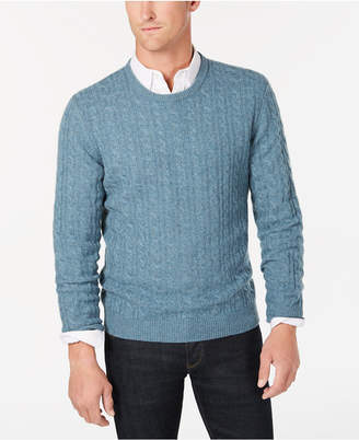 Club Room Men's Cable-Knit Cashmere Sweater