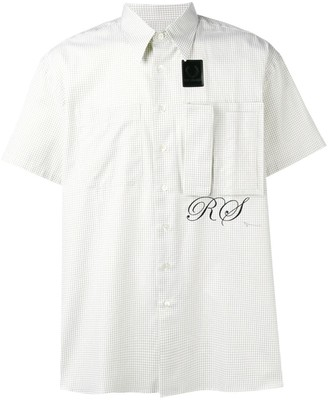 Fred Perry logo check short-sleeve shirt