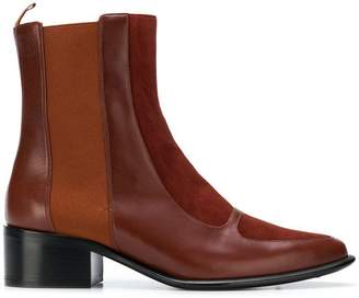 Loewe block heel ankle boots