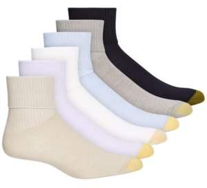 Gold Toe 6 Pack Turn Cuff Socks