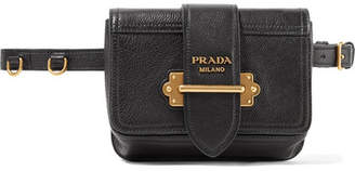 Prada Cahier Textured-leather Belt Bag