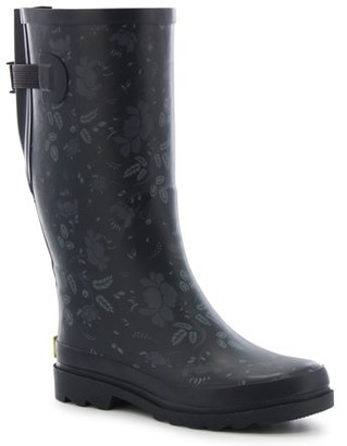 Western Chief Women's Feminine Floral Vari-Fit Wide Calf Rain Boots