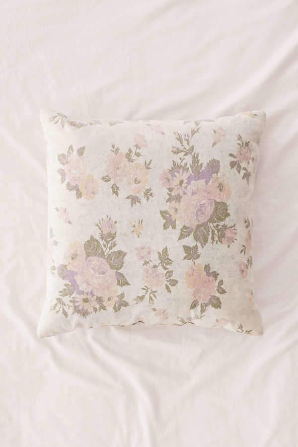 Juliana Floral Acid Wash Denim Pillow