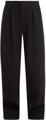 Raey Wide-leg wool-blend twill trousers