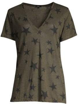 12c67119fc9a58 at Saks Fifth Avenue · Rails Women s Cara Star V-Neck Tee - Sage - Size XS