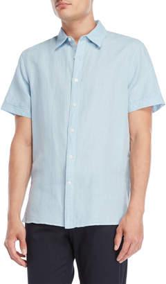 Perry Ellis Linen-Blend Short Sleeve Shirt