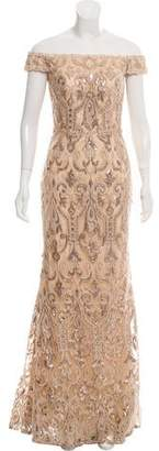 Terani Couture Embellished Evening Dress