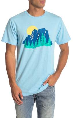 Body Rags Short Sleeve Mountain Scene Tee
