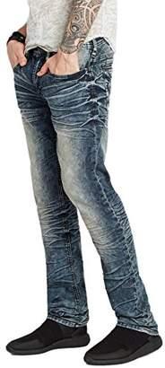 Buffalo David Bitton Men's Evan-x Slim Straight Leg Stretch Denim Fashion Jean