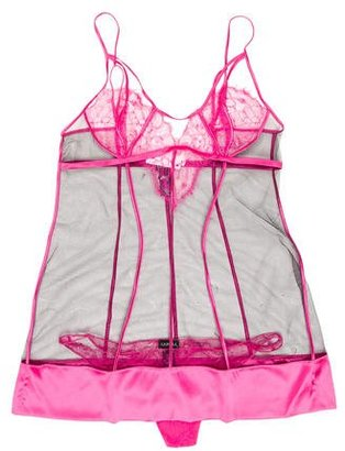 La Perla Lace-Accented Lingerie Set w/ Tags $125 thestylecure.com