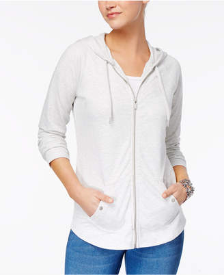 Style&Co. Style & Co Zip-Front Jacket, Created for Macy's