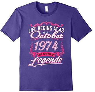October 1974 - 43th Birthday Gifts Funny Tshirt