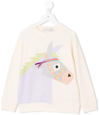 Stella McCartney horse printed sweatshirt