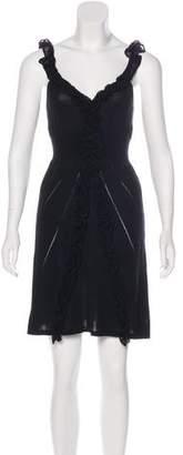 RED Valentino Knit Ruffle Dress