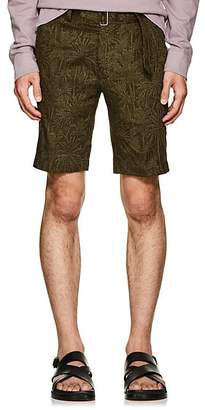 Officine Generale Men's Julian Palm-Tree-Pattern Cotton Shorts