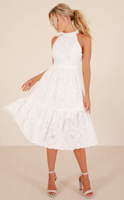 Showpo Carry You Home dress in white