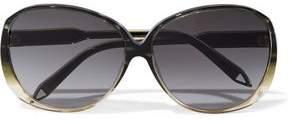 Victoria Beckham Round-Frame Acetate And Gold-Tone Sunglasses