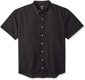 Van Heusen Men's Big and Tall Wrinkle Free Short Sleeve Button Down Shirt