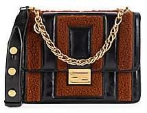 Fendi Women's Kan U Shearling & Leather Shoulder Bag