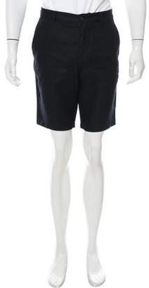 Michael Kors Flat Front Linen Shorts