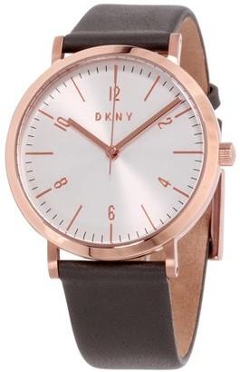 Donna Karan DKNY Minetta Silver Dial Leather Strap Ladies Watch NY2652