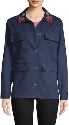 Manoush Women's Embellished Camo Jacket
