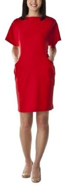Mossimo® Women's Ponte Dolman Sleeve Dress - Chinese Red