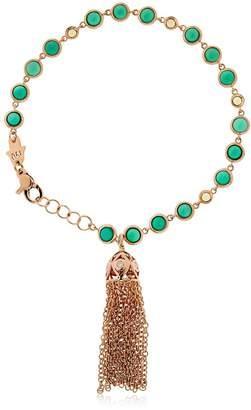 Rose Gold Tassel Bracelet W/ Peridot