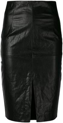 Twin-Set faux leather pencil skirt