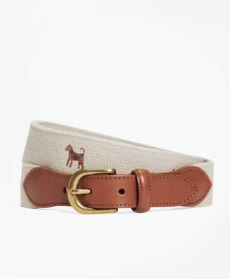 Brooks Brothers Embroidered Dog Belt