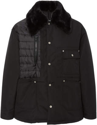 Maison Margiela Cordura Faux Fur-Trimmed Shell Jacket