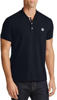 Moncler Piqué Regular Fit Polo Shirt $200 thestylecure.com