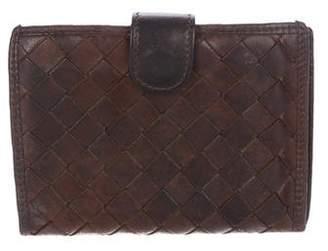 Bottega Veneta Vintage Intrecciato Leather Compact Wallet