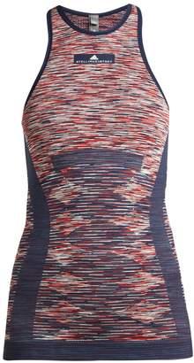 adidas by Stella McCartney Yoga seamless space-dye tank top