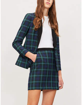 Claudie Pierlot Checked woven skirt