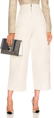 Chloé Stretch Cotton High Waisted Wide Leg Pants