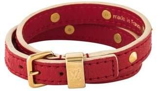 Louis Vuitton Leather Studded Wrap Bracelet