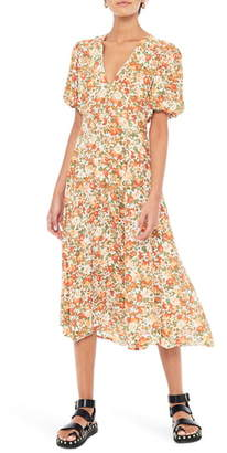 Faithfull The Brand Delia Floral Midi Dress
