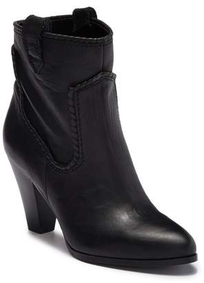 Karl Lagerfeld Paris Provence Stacked Heel Leather Bootie