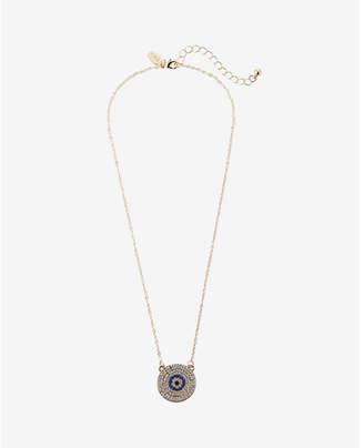 Express pave evil eye pendant necklace