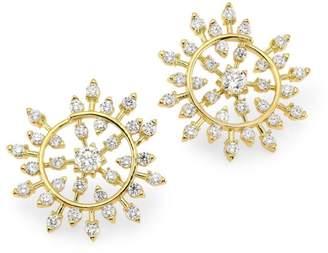 248bbfe3b Plevé 18K Yellow Gold Diamond Medium Snowflake Stud Earrings