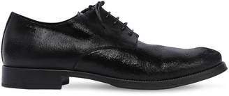 Alexander Hotto CRACKLE LEATHER DERBY LACE-UP SHOES