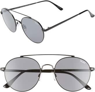 Quay Outshine 53mm Round Sunglasses