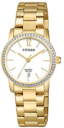 Swarovski CITIZEN QUARTZ Quartz Analogue Stainless Crystal Bracelet Watch