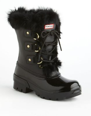 Hunter Cathie Fur-Lined Boots