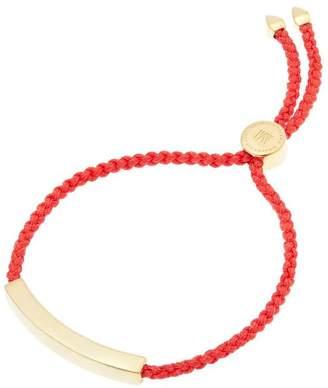 Monica Vinader Gold-Plated Coral Cord Linear Friendship Bracelet