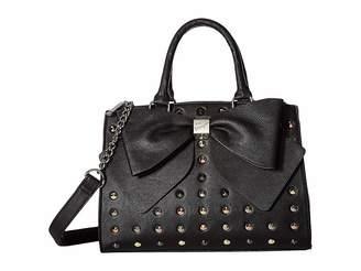 Betsey Johnson Studded Bow Satchel Satchel Handbags