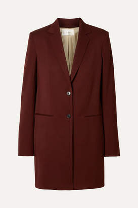 The Row Batilda Wool Jacket - Burgundy